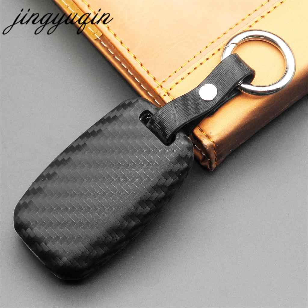 Jingyuqin автомобильный Силиконовый складной ключ из углеродного волокна для Kia Rio Sportage Ceed Sorento Cerato K2 K3 K4 K5 флип-ФОБ чехол пульт дистанционного управления