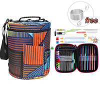 New Mix 22pcs Crochet Hooks Set With Yarn Storage Bag Organizer Women Mom Home Knitting Needles Hook Sewing Tool with Yarn Bag