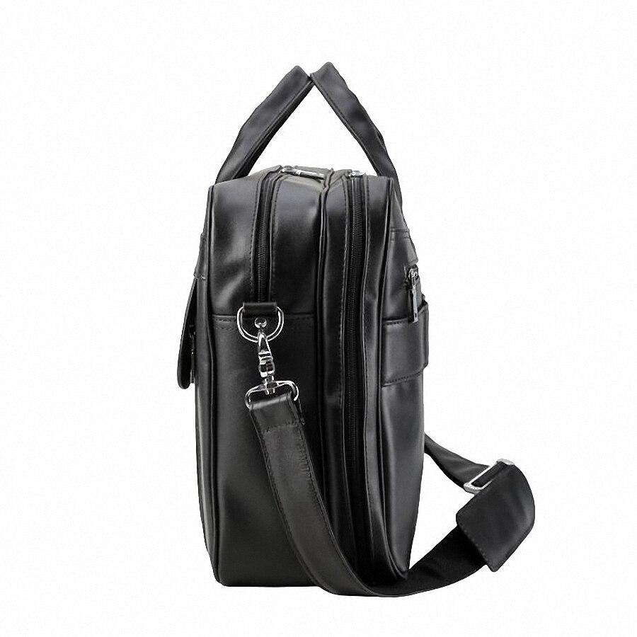 Büro Leder 17 Männer Echtem Business Aus Casual Taschen Bolsa Zoll Tasche Handtasche Laptop Maleta Schulter Mann Black Aktentasche Eleganz 0YBnfv0