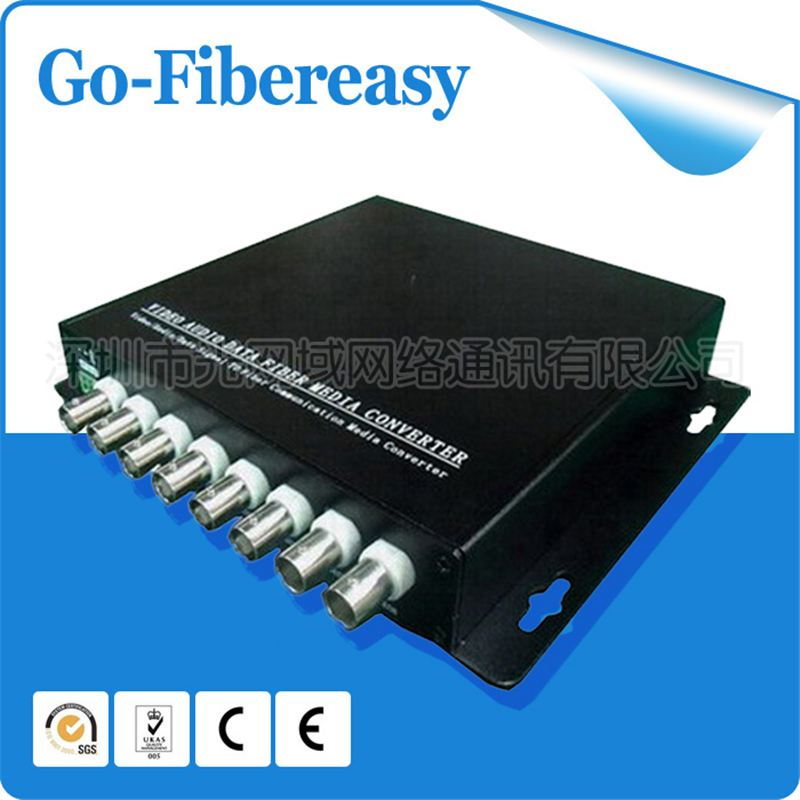 2pieces 8 Channels HDCVI to Video Over Fiber Converters