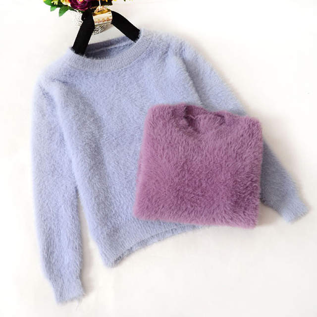 placeholder Fluffy Sweater Pull Femme Women Sweaters And Pullovers 2017  Cashmere Korean Tricot Autumn Winter Warm Jumper 26892f6a0dc5