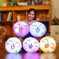 Luminous Happy Face Pillow Christmas Toys Led Light Flashing Cushion Hot Colorful Kids Toys Birthday Gift