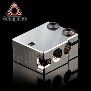 Image 2 - Trianglelab PT100 Volcano Plated Copper Heat Block For E3d Volcano Hotend 3D Printer Heate Block For BMG Extruder Titan