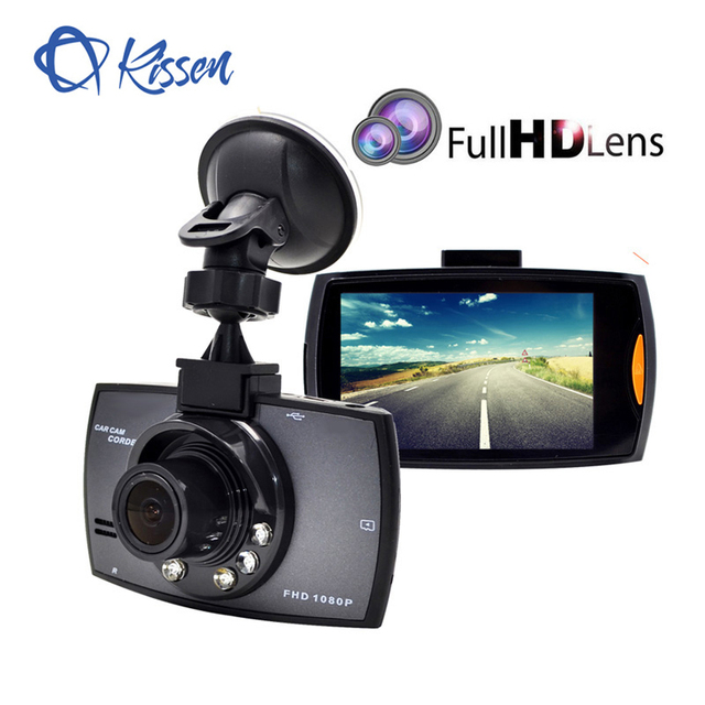 Kissen Full HD 1080 p Samochód DVR 2.7 Cal Ekran IPS Kamery Samochodu z Dwoma Obiektywami Dash Cam Video Recorder Night wizja g-sensor Registrator