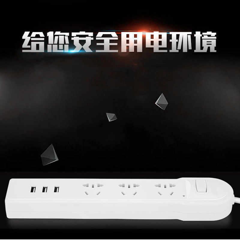 Listwa zasilająca inteligentne elektronika domowa szybkie ładowanie 3 gniazdo USB 1.8 M przedłużacz gniazdo z dodać EU/UK/AU /US wtyczka