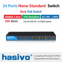 24 port 10/100Mbs PoE Switch None standard POE with 1 Uplink Port Power over Ethernet Switch Adapter for Wireless AP  IP camera poe switch with fiber uplink 100m 8 port poe switch 8 port af poe ports and 1 single fiber uplink bandwidth 1 6gbps