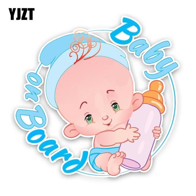 YJZT 16,1*15,7 CM pegatina de advertencia para coche hermosa alta calidad gráfica bebé a bordo calcomanías de decoración de dibujos animados C1-5553
