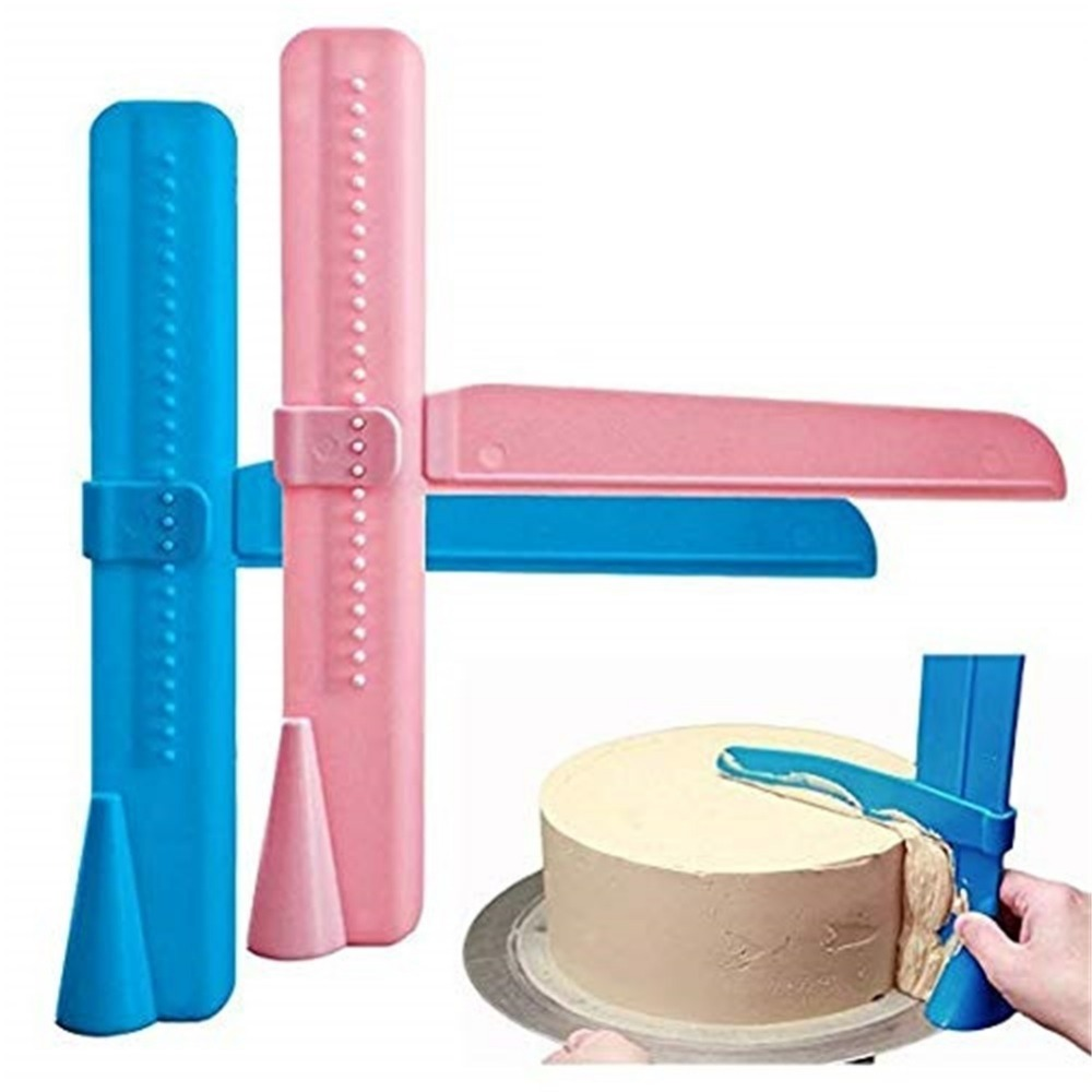<font><b>Cake</b></font> <font><b>Scraper</b></font> Smoother Adjustable Fondant Spatulas <font><b>Cake</b></font> Edge Smoother Cream Leveling Device DIY Baking Tools <font><b>Cakes</b></font> <font><b>Pastry</b></font> Spatula image