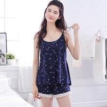 Women Clothes for Summer Shorts Sets V-Neck Sleepwear Satin Pajama ladies's Pajamas Spaghetti Strap Lace Pajama Set