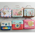 5PCS/LOT1/6 Doll Accessories Metal Luggage Mini Suitcase For Dolls
