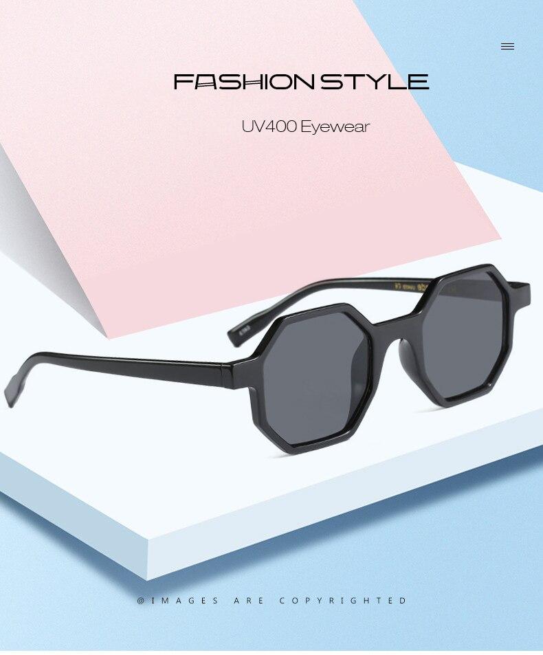 De moda de Octágono de leopardo gafas de sol mujer marca diseñador Vintage  2019 hexagonal Carey marco gafas de sol tonos señora OM553B af316d07390f