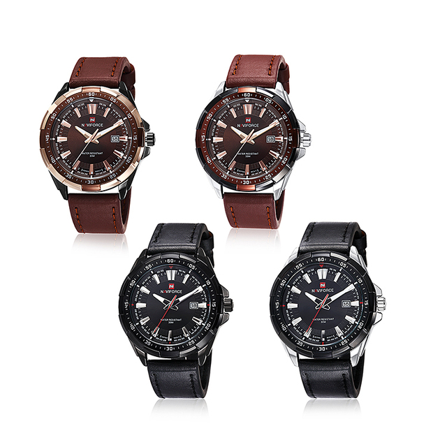 Casual Sport Watches Men's Leather Military