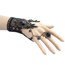Simple black Lace Sexy Bracelet for Women Accessories Charm Bracelets for Girl Night Club Party gift Jewelry(China)