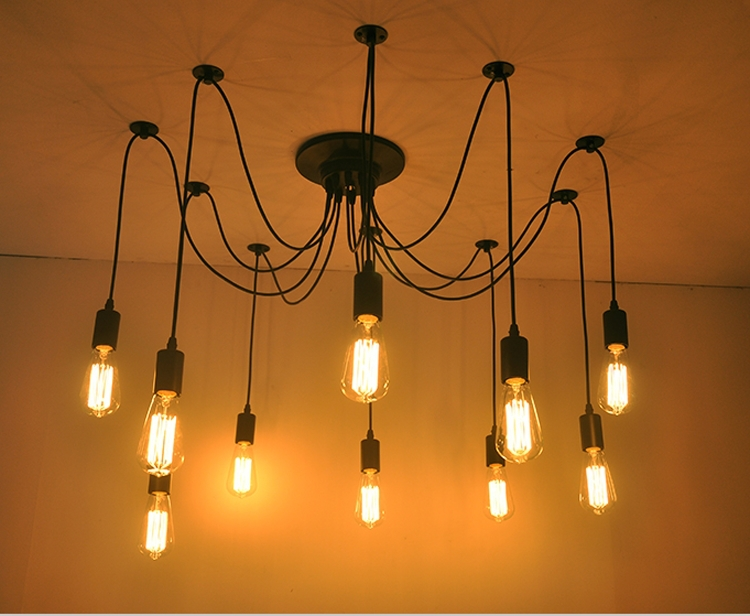 Creative led light bulb chandelier lighting simple fashion creative led light bulb chandelier lighting simple fashion personality diy lamp designer clothing store restaurant coffee shop in arm warmers from womens aloadofball Images