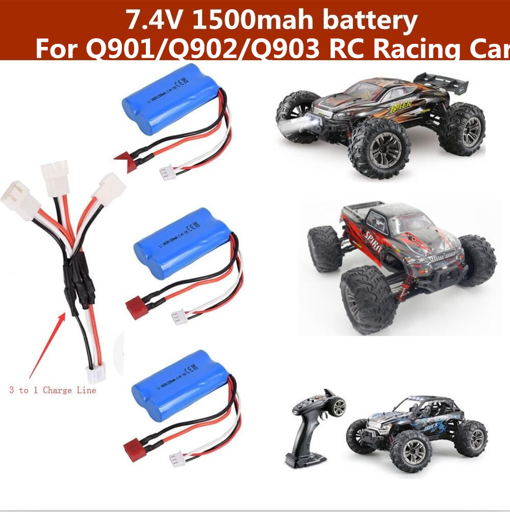 Q901 Q902 Q903 <font><b>RC</b></font> <font><b>Car</b></font> battery 7.4V 1500mAh battery for Q901 Q902 Q903 <font><b>Racing</b></font> Remote control <font><b>RC</b></font> <font><b>car</b></font> <font><b>truck</b></font> spare parts battery image
