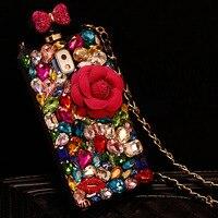 Dot Me Coloré Diamant Fleur Bouteille De Parfum Cas Pour Iphone X 8 7 6 S Plus 5S 4S Samsung S8/7/6 Bord Plus S5/4 Note 8 5 4 3 2