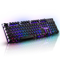 Mouow Wired Backlit Illuminated Multimedia Ergonomic Usb Gaming Keyboard For Desktop Laptop Computer English Version