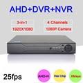 Hisilion Sensor de Tres en Uno de 4 Canales 1080 P/960 P/720 P/960 H Real 25FPS en tiempo de Reproducción AHD-H NVR DVR Solamente El Envío A rusia