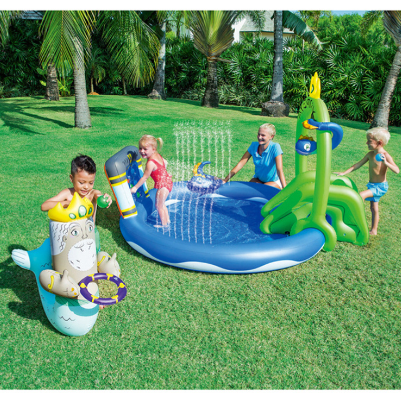 Cute Children Inflatable Swimming Water Pool Ocean Ball Thick PVC Outdoor Playground zwembad piscina bebe A107-1 dual slide portable baby swimming pool pvc inflatable pool babies child eco friendly piscina transparent infant swimming pools