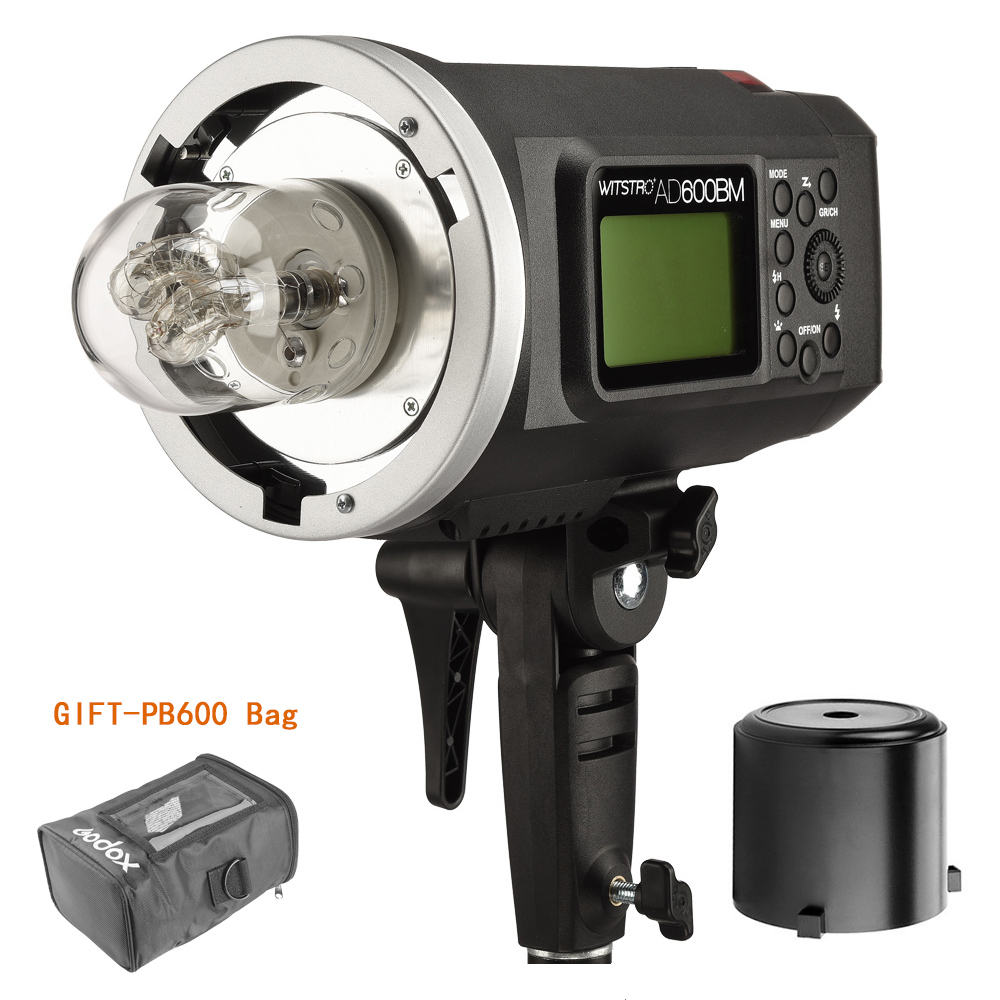 Godox Wistro AD600BM Manual Version Bowens Mount GN87 HSS 1/8000S 2.4G X System All-In-One Outdoor Strobe Flash Light godox ad600bm 600w hss gn87 bowens mount flash light or ad600bm x1t c transmitter trigger for canon