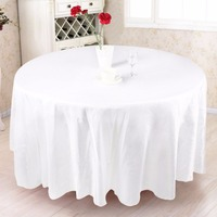 228x228cm Europen Wedding Table Cloth Luxury Satin Round Table Cover For Wedding Party Decorations White Black
