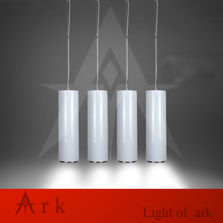ark light dia 15cm white aluminum cannular led 15w pendant lamp tube