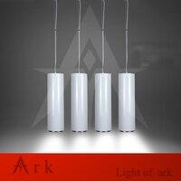 ARK LIGHT Dia 15cm WHITE Aluminum Cannular Led 15W Pendant Lamp TUBE Cylinder Shape LED Hanging