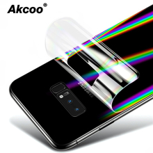 Akcoo aurora gradient Note 10 Plus back film for Samsung galaxy S8 S9 10 Plus screen protector for Note 8 9  protective film for samsung galaxy note10 pro 3d carbon fiber protective back film for galaxy note 8 9 10 10 back screen protector film sticker