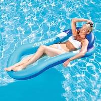 FASHION Summer Outdoor Beach Pool Inflatable Swim Lounge Chair Interactive Fun Environmental Material Smooth Air Mattresses