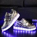 Tamaño 26-35 2016 luces led de los niños shoes boys/girls cargador usb iluminado kids sport shoes chaussure luminoso zapatillas tx0577