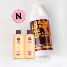 Cheaper 1000ml brazilian keratin treatment at home 5% keratin smoothing system get free hair sets free shiping
