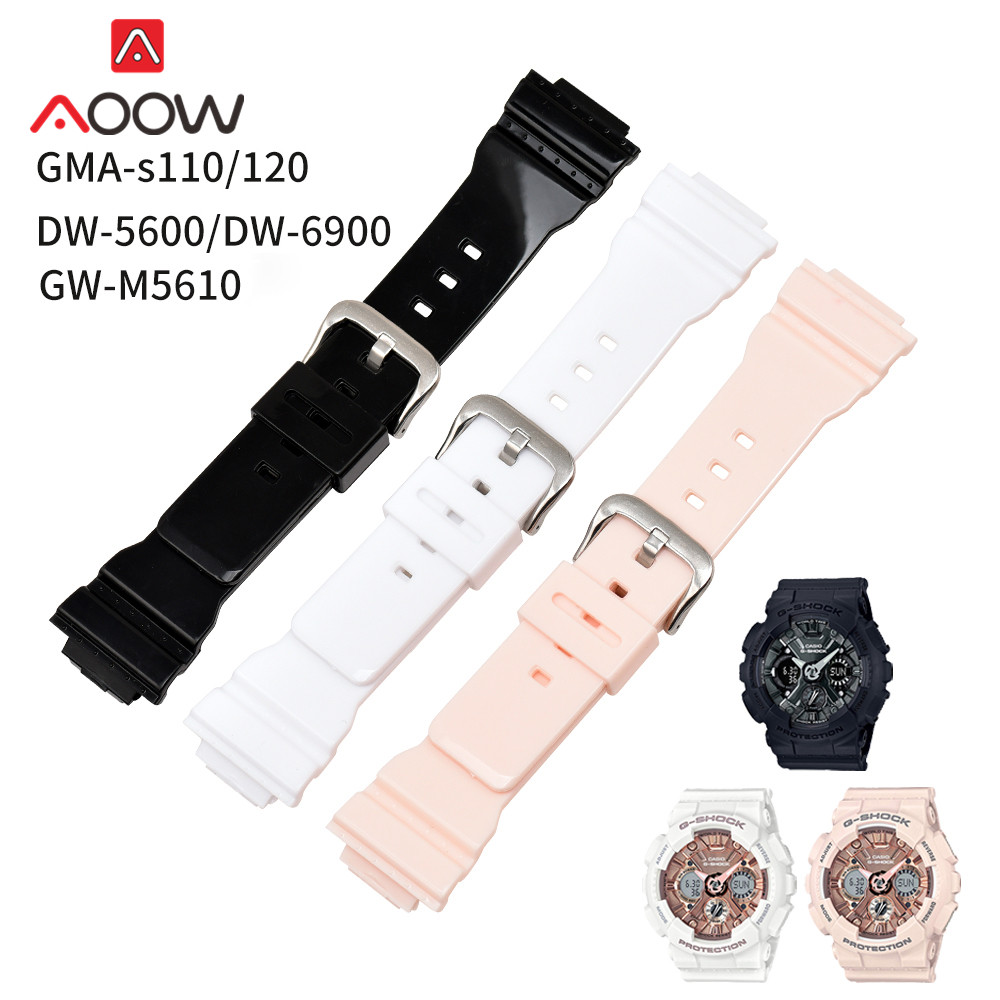 High Quality PU Watchband for Casio G-shock GMA-S110 / S120 <font><b>DW</b></font>-<font><b>5600</b></font> Sport Waterproof Replacement Bracelet Band <font><b>Strap</b></font> Accessories image