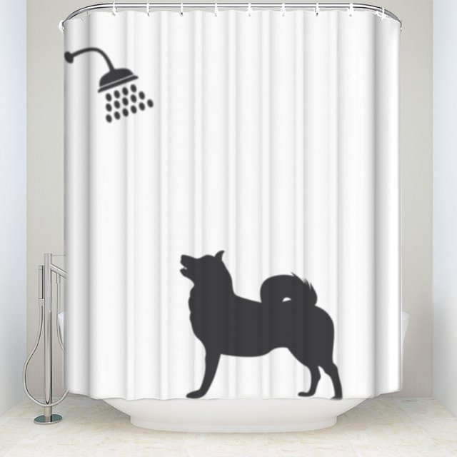 Funny Dog Bath Waterproof Fabric Bathroom Shower Curtain 72\