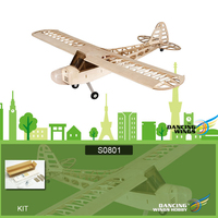 S0801 RC Airplane Dancing Wings Hobby Balsa Wood 1.2M Piper Cub J 3 Remote Control Aircraft KIT Version DIY Flying Model RC Toys