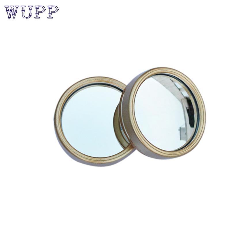 New Car Vehicle 2pcs Driver Wide Angle Round Convex Mirror Blind Spot Auto RearView Gold M16 car-styling