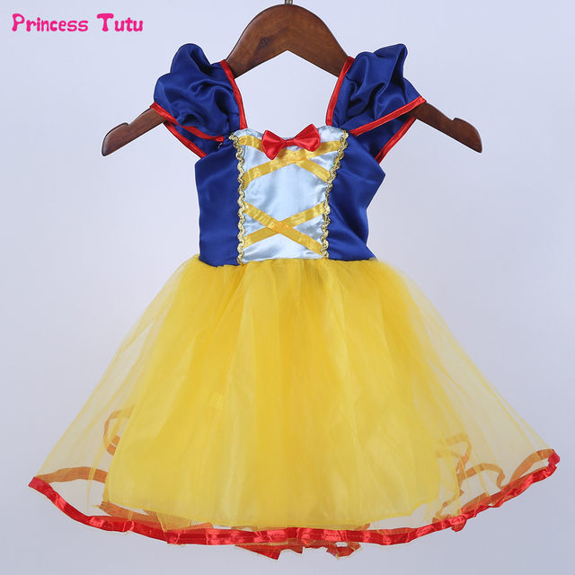 98737e34a5e Baby Girl Snow White Dress Children Christmas Halloween Cosplay Princess  Costume Girls Kids Birthday Party Dress Clothes 1-7Year