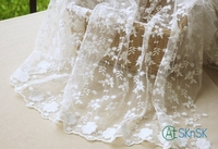 Fashion lace magazine good handmade embroidery lace fabric for DIY lady dress exquisite jacquard mesh lace fabric width 130cm
