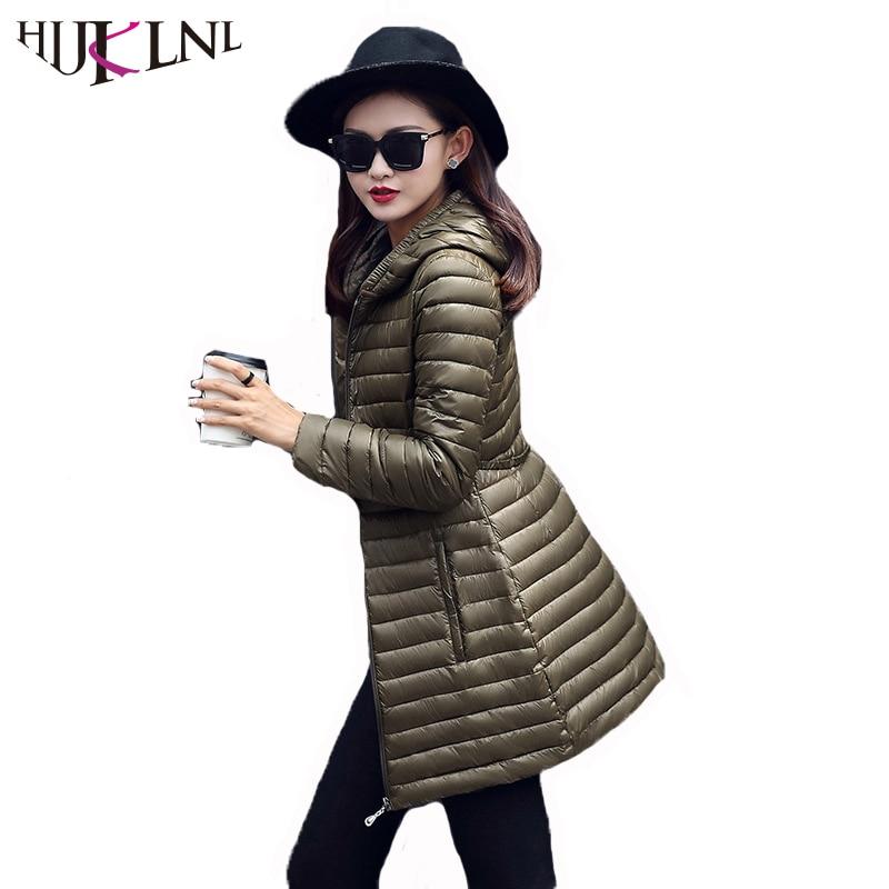 HIJKLNL jaqueta feminina Long Female Jacket 2017 Hooded Winter Jacket Women Coat Parka Mujer Cotton padded
