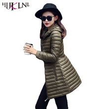HIJKLNL jaqueta feminina Long Female Jacket 2017 Hooded Winter Jacket Women Coat Parka Mujer Cotton-padded Jacket Outwear NA230