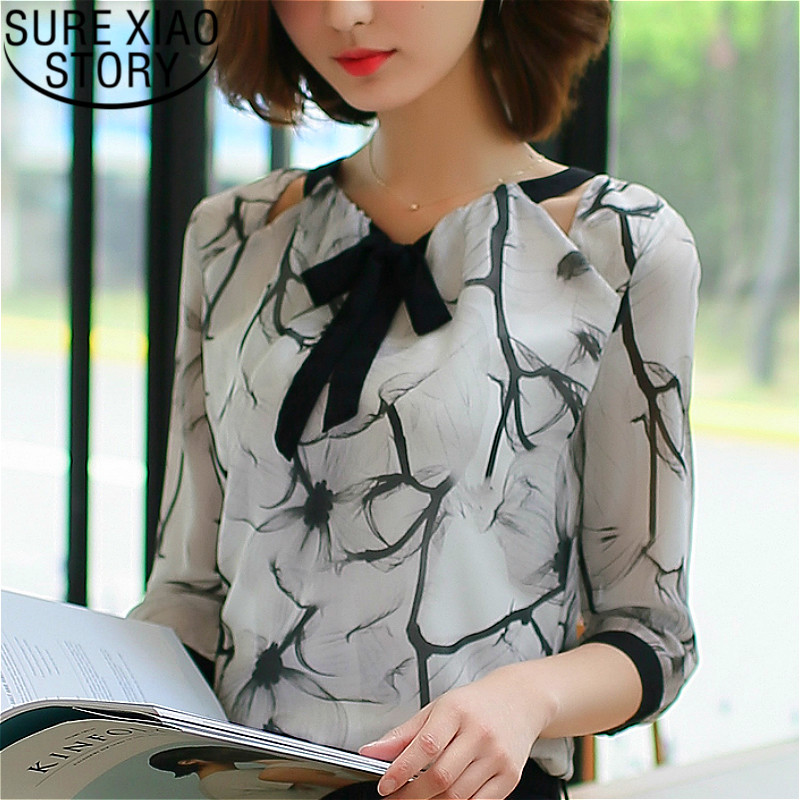 Shirts Women 2019  White Shirts Blouse Chiffon Blouse Plus Size Tops Shirts Ladies Tops Womens Clothing Women Clothing 2705 50