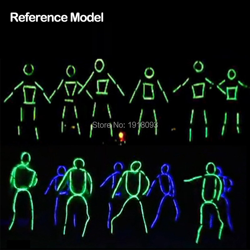 New Style EL Wire Suits LED Strip Luminous Costumes 10 Colors Select ...