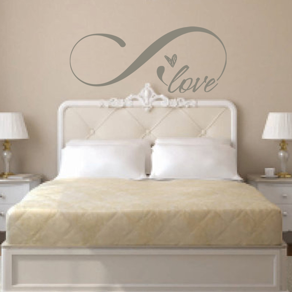 Love Wall Decal Love Words Love Heart Wall Decal Vinyl Art Quote Sticker Bedroom Decal 22.8cm x 55.9cm