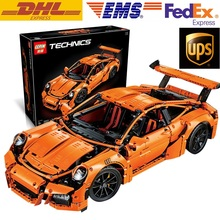 LEPIN 20001 Technic Series 911 GT3 RS Race Car Model Building Blocks Kits Bricks Toy Compatible With Legoed 42056 Christmas Gift
