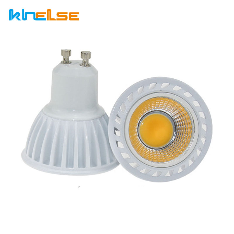 GU10 Led Bulb Dimmable 5W cob Recessed Lighting GU10 LED spotlight white bulbs diameter 50mm ceiling spot light fixture