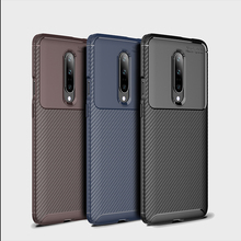 Luxury Frosted Carbon Fiber Case For Oneplus 7 Pro 6t 6 Soft Silicone Protection Back