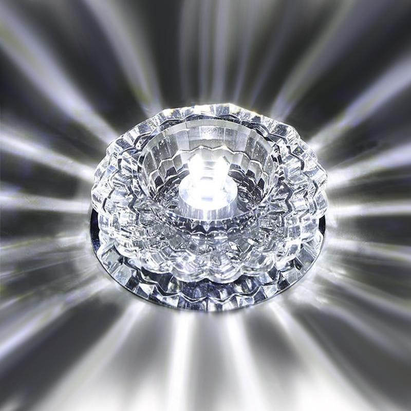 Downlight SMD 3W 5W LED Downlights crystal lamp Ceiling Spot Light With LED Driver AC110V 220V indoor Decoration