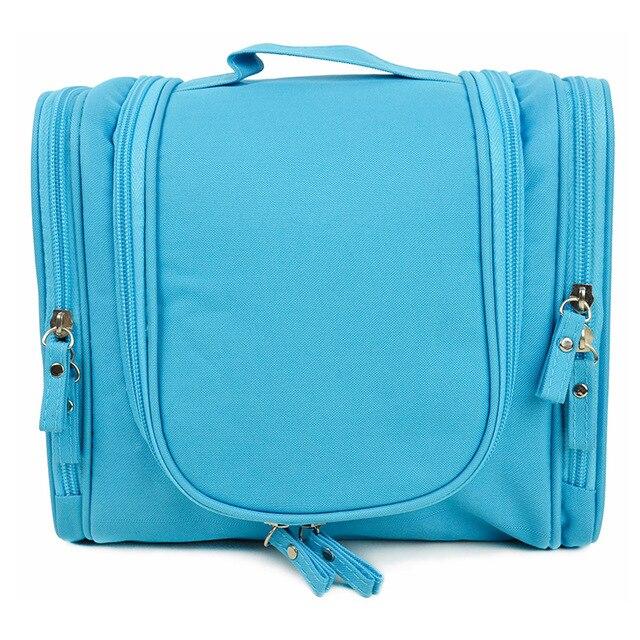 Fashion Nylon Women Cosmetics Bag High Quality Travel Handbag Famous Brand Soft Blue Red Large Casual Tote Practical Sac Z20
