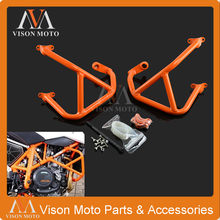High Performance Orange Crash Bars Frame Protector Protection Guard For KTM Duke 690 Duke690 2013 2014 2015
