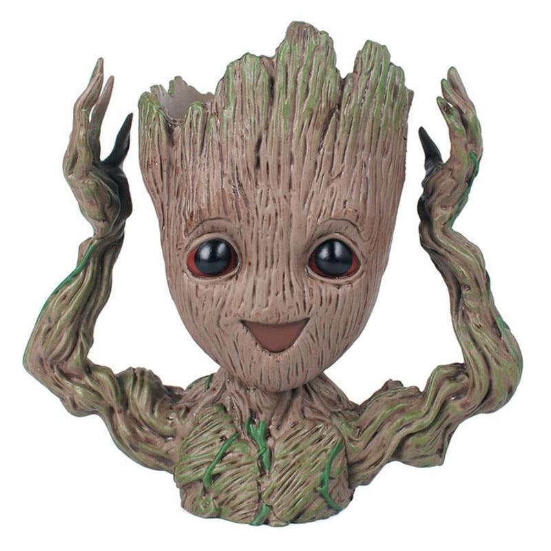 New Baby Guardians Of The Galaxy Plant Flower Pot Action Figure Drop Shipping Penholder Tree Men Creative Craft Figurine Macetas