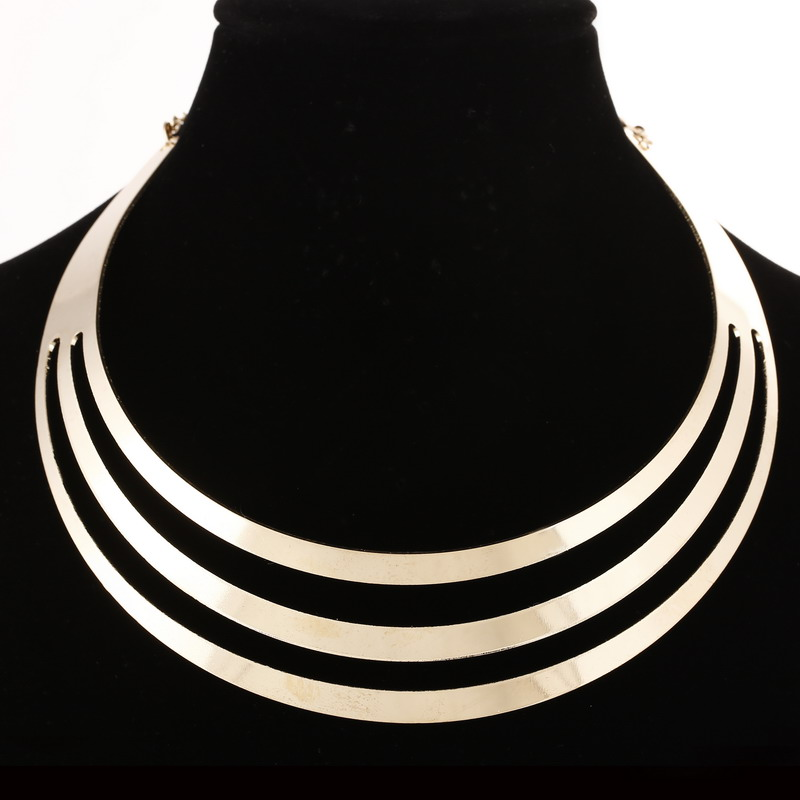 Women Statement Necklace Charm Fashion Gold Color Choker Necklace European Style Punk Collar Jewelry Collier Femme